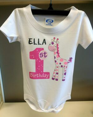 1st Birthday Onesie  Girl