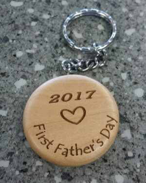 Personalized Laser-Engraved Key Chain