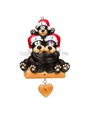 Black Bear Family Ornament