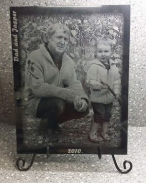 Laser Engraved Marble Plaque